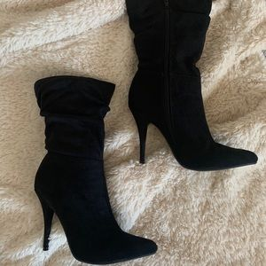LeChateau Faux Suede High Heel Booties